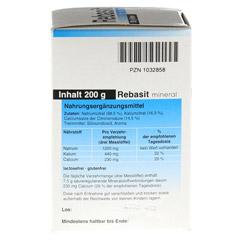 REBASIT Mineral Pulver 200 Gramm - Linke Seite
