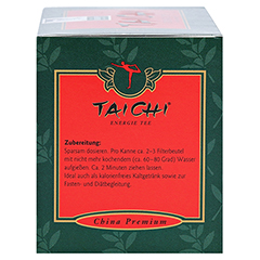 TAI CHI Energie Tee mit Ginseng Filterbeutel 20 Stück - Linke Seite