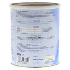 NOVALAC 2 Standard Folge-Milch 6-12 M. 800 Gramm - Linke Seite