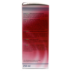 LOMAVITAL Eisen+Zink flüssig 250 Milliliter - Linke Seite