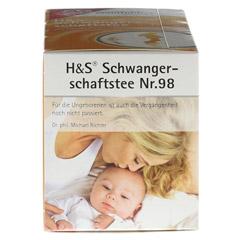 H&S Wohlfühltee feminin Schwangerschaftstee Fbtl. 20 Stück - Linke Seite