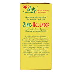 APODAY Holunder Vitamin C+Zink zuckerfrei Pulver 10x10 Gramm - Linke Seite