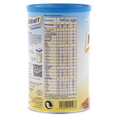 MILKRAFT Trinkmahlzeit Schoko Pulver 480 Gramm - Linke Seite