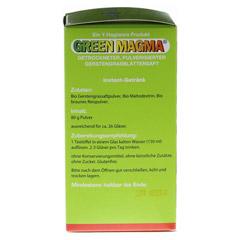 GREEN MAGMA Gerstengrasextrakt Pulver 80 Gramm - Linke Seite