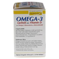 OMEGA-3 Lachsöl plus Vit.D plus Omega3 Konz.Kps. 100 Stück - Linke Seite