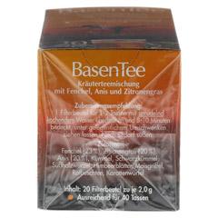 Basentee Filterbeutel 20 Stück - Linke Seite
