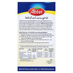 ABTEI Ginseng (Plus B-Vitamine) 40 Stück - Rückseite