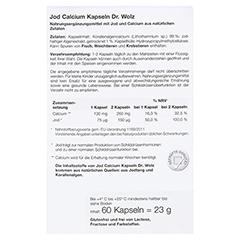 JOD CALCIUM Kapseln Dr.Wolz 60 Stück - Rückseite