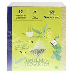 """Sonnentor """"Tanzend im Teegarten"""" Kannenbeutel 30 Gramm - Oberseite"""