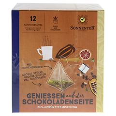 """Sonnentor """"Genießen auf der Schokoladenseite"""" Kannenbeutel 42 Gramm - Oberseite"""