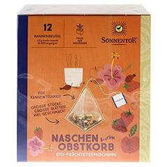 """Sonnentor """"Naschen vom Obstkorb"""" Kannenbeutel 36 Gramm - Oberseite"""