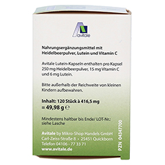 LUTEIN KAPSELN 6 mg+Heidelbeer 120 Stück - Rechte Seite