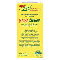 APODAY heiße Zitrone Vit.C Pulver 10x10 Gramm - Rechte Seite