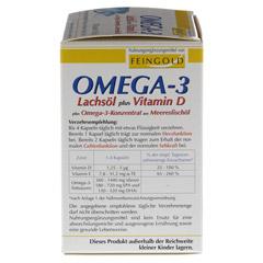 OMEGA-3 Lachsöl plus Vit.D plus Omega3 Konz.Kps. 100 Stück - Rechte Seite