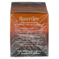 Basentee Filterbeutel 20 Stück - Rechte Seite