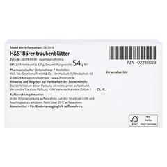 H&S Bärentraubenblätter 20 Stück N1 - Unterseite