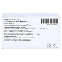 H&S Blasen-und Nierentee 20 Stück - Unterseite