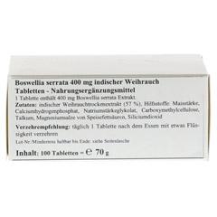 BOSWELLIA SERRATA 400 mg Tabletten 100 Stück - Unterseite