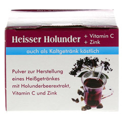 HEISSER Holunder+Vit.C+Zink Pulver 15x10 Gramm - Unterseite