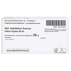 H&S Schwarztee Premium Indien-Ceylon Filterbeutel 20 Stück - Unterseite