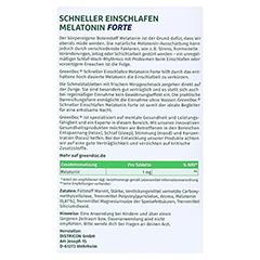 GREENDOC Schneller Einschlafen Melatonin Forte SMT 20 Stück - Rückseite