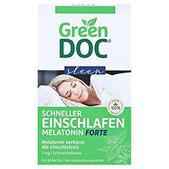 GREENDOC Schneller Einschlafen Melatonin Forte SMT 20 Stück - Vorderseite