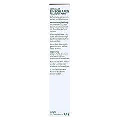 GREENDOC Schneller Einschlafen Melatonin Forte SMT 20 Stück - Linke Seite