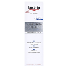 EUCERIN Anti-Age Hyaluron-Filler Auge + gratis Eucerin Hyaluron Filler Serum 15 Milliliter - Vorderseite