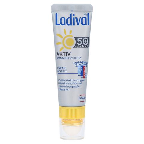 LADIVAL Aktiv Sonnenschutz Gesicht&Lippen LSF 50+ 1 Packung