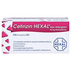 Cetirizin HEXAL bei Allergien 100 Stück N3 - Oberseite