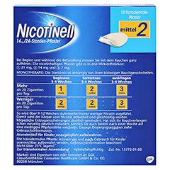Nicotinell 14mg/24Stunden 14 Stück - Rückseite