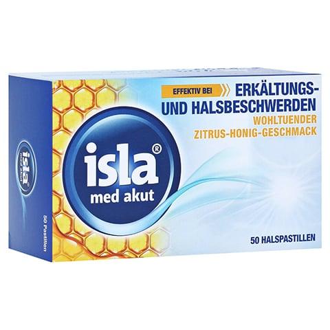 isla med akut Halspastillen Zitrus-Honig-Geschmack 50 Stück