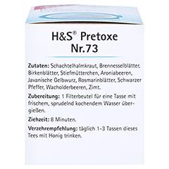 H&S Pretoxe Filterbeutel 20x1.8 Gramm - Linke Seite