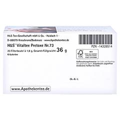 H&S Pretoxe Filterbeutel 20x1.8 Gramm - Unterseite
