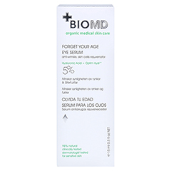 Biomed Vergiss Dein Alter Augenserum 15 Milliliter - Rückseite