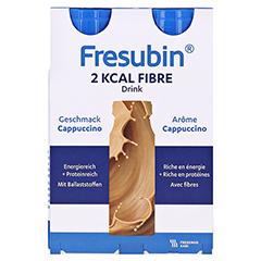Fresubin 2 kcal Fibre DRINK Cappuccino Trinkflaschen 4x200 Milliliter - Vorderseite