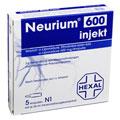 NEURIUM 600 Injekt Infusionslösungskonzentrat 5 Stück N1