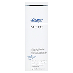 LA MER MED Couperose Creme ohne Parfüm 50 Milliliter - Vorderseite