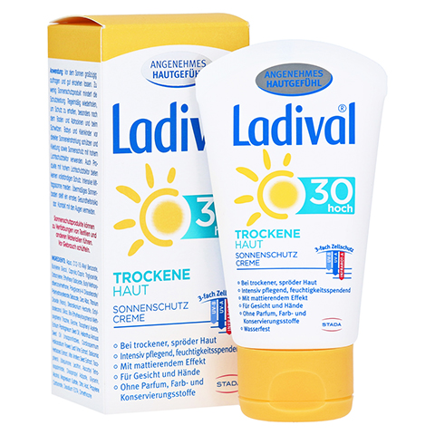 LADIVAL trockene Haut Creme LSF 30 50 Milliliter