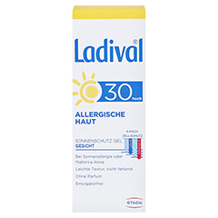 Ladival Allergische Haut Gel LSF 30 50 Milliliter - Vorderseite