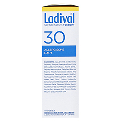 Ladival Allergische Haut Gel LSF 30 50 Milliliter - Linke Seite