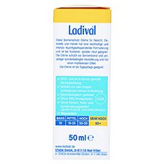 LADIVAL trockene Haut Creme LSF 50+ 50 Milliliter - Rechte Seite