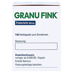 GRANU FINK Prosta forte 500mg 140 Stück - Rechte Seite