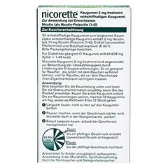 Nicorette 2mg freshmint 30 Stück - Rückseite