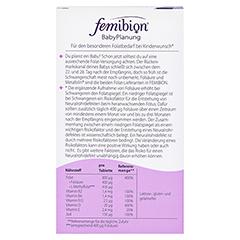 FEMIBION BabyPlanung 0 Tabletten + gratis Merck Schwangerschaftstest 28 Stück - Rückseite