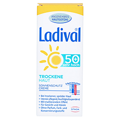 LADIVAL trockene Haut Creme LSF 50+ 50 Milliliter - Rückseite