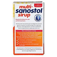 Multi-Sanostol ohne Zuckerzusatz 260 Gramm - Rückseite