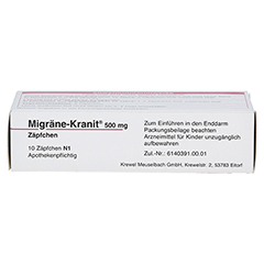 Migräne-Kranit 500mg 10 Stück N1 - Oberseite