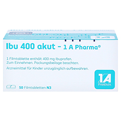 Ibu 400 akut-1A Pharma 50 Stück N3 - Unterseite