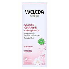 WELEDA Mandel Sensitiv Gesichtsöl 50 Milliliter - Vorderseite